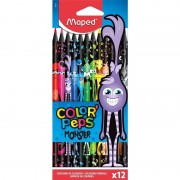 Lápices maped color'peps monster 862612/ 12 unidades/ colores intensos