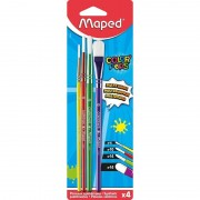 Pinceles maped color'peps 867810/ 3 redondos/ 1 plano/ 4 unidades