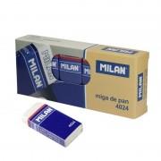 Goma de borrar milan cnm4024-10/ 10 unidades/ blanca