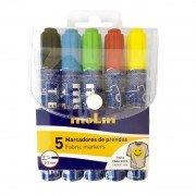 Rotuladores para tela molin rtt230-05/ 2mm/ 5 unidades/ colores surtidos