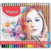 Lápices maped 832424/ acuarelables/ 3.7mm/ 24 unidades/ colores surtidos