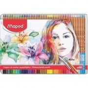 Lápices maped 832448/ acuarelables/ 3.7mm/ 48 unidades/ colores surtidos