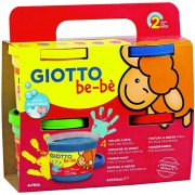 Pack 4 botes de pintura a dedos giotto be-be 467200/ 4 colores