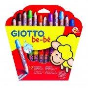 Pack 12 lápices de colores con sacapuntas giotto be-be 469700