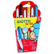 Pack 6 rotuladores de colores giotto be-be 469800