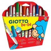 Pack 12 rotuladores de colores giotto be-be 469900
