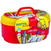 Pack 12 lápices y 12 rotuladores de colores con sacapuntas y libro para colorear giotto be-be 465800