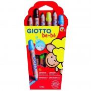 Pack 6 lápices de colores con sacapuntas giotto be-be 469600