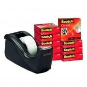 Dispensador de cinta adhesiva scotch - 3m c60/ 1.9cm x 33m/ 10 unidades de cinta