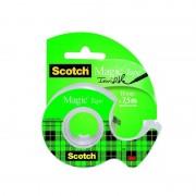 Cinta adhesiva transparente en portarrollos 3m invisible scotch magic/ 1.9cm x 7.5m