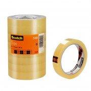 Cinta adhesiva transparente 3m scotch 508/ 1.9cm x 66m/ 8 unidades
