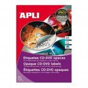 Etiquetas adhesivas para cd/dvd apli 10166/ 114 x 41mm/ 100 hojas