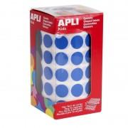 Etiquetas adhesivas en rollo apli 04856/ ø15mm/ 2832 uds/ azul