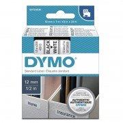 Cinta rotuladora adhesiva de plástico dymo d1 45013/ para label manager/ 12mm x 7m/ negra-blanca