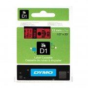 Cinta rotuladora adhesiva dymo d1 45017/ 12mm x 7m/ negra-roja