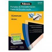 Portadas de polipropileno fellowes 54772/ a4/ 500 micras/ 100 unidades/ negras