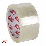 Cinta adhesiva de embalaje transparente apli 11592/ 4.8cm x 66m/ 6 unidades
