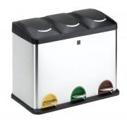 Cubo con pedal iris 2399-i/ 3 compartimentos/ 45l/ inoxidable