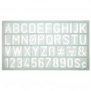 Plantilla letras y números grafoplás westcott 74311271/ letras de 20mm/ transparente