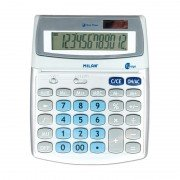 Calculadora milan 152512bl/ gris