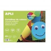 Bloc de cartulinas apli 14483/ 10 hojas/ colores surtidos