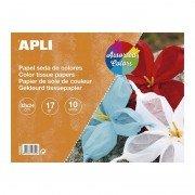 Bloc de papel seda apli 16652 para manualidades/ 10 hojas/ colores surtidos