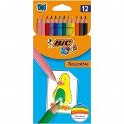 Lápices de colores bic kids tropicolors 2 835266/ 12 unidades