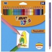 Lápices de colores bic kids tropicolors 2 9375182/ 24 unidades