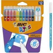 Rotuladores bic kids magic 9202962/ 10 rotuladores + 2 correctores