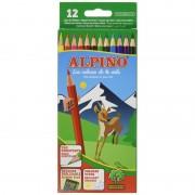 Lápices de colores alpino al010654/ 12 unidades