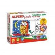 Pack pinturas alpino activity/ para dedos/ 5 botes pintura + 6 láminas para colorear + guía de uso