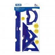 Pack de reglas milan flex resistant 359801/ azul ácido