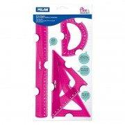 Pack de reglas milan flex resistant 359801p/ rosa ácido