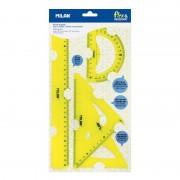 Pack de reglas milan flex resistant 359801y/ amarillo ácido