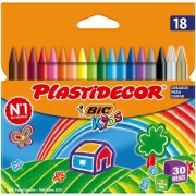 Ceras plásticas bic kids plastidecor 875771/ 18 unidades