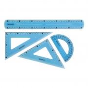 Pack de reglas grafoplás westcott 74310899/ azules