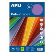 Papel apli 15279/ din a4/ 80g/ 100 hojas/ colores intensos